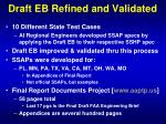draft eb refined and validated