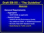 draft eb xx the guideline2