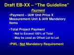 draft eb xx the guideline8