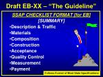 draft eb xx the guideline9