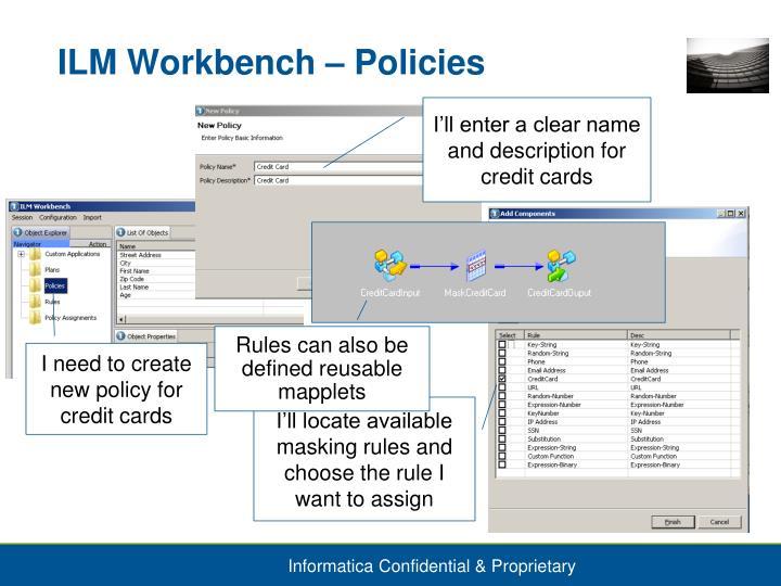 ILM Workbench – Policies