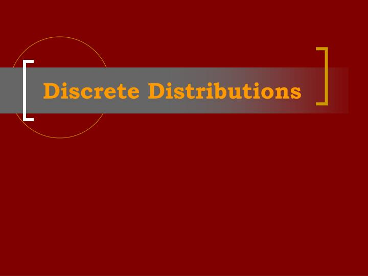 discrete distributions n.