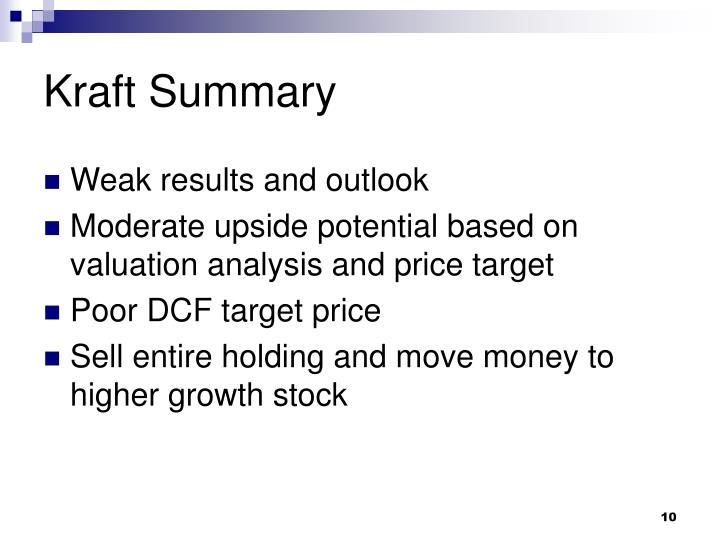 Kraft Summary