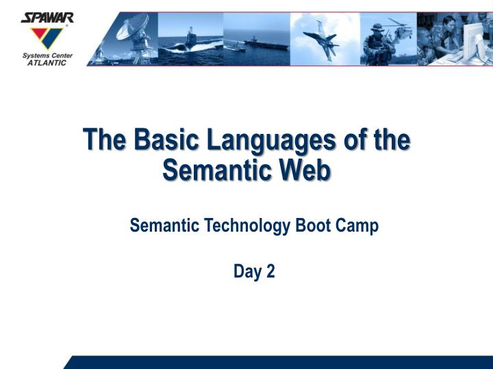 the basic languages of the semantic web n.
