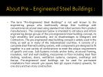 about pre engineered steel buildings