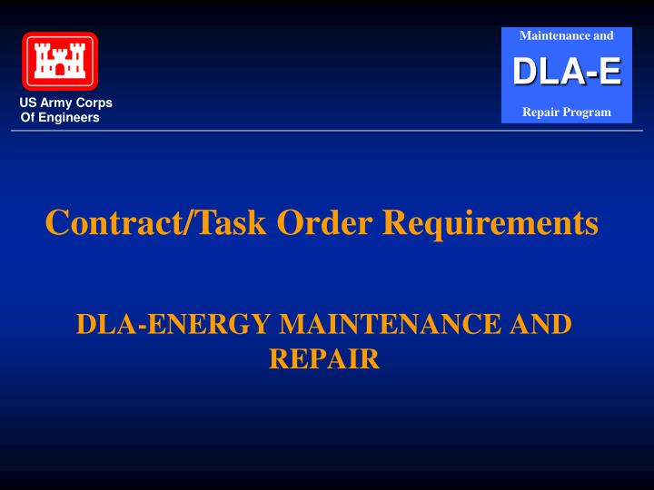 Dla energy maintenance and repair