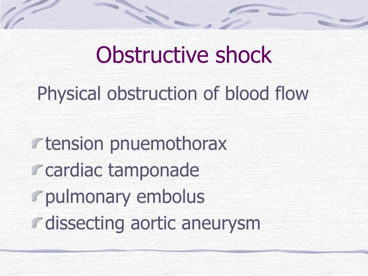 Obstructive shock