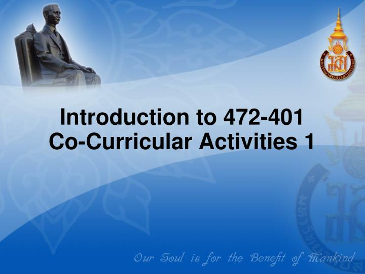 introduction to 472 401 co curricular activities 1 n.