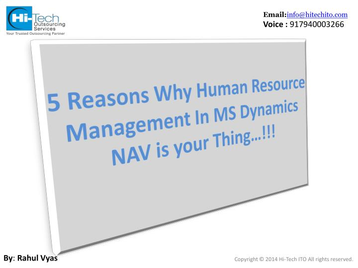 5 reasons why human resource management in ms dynamics nav is your thing