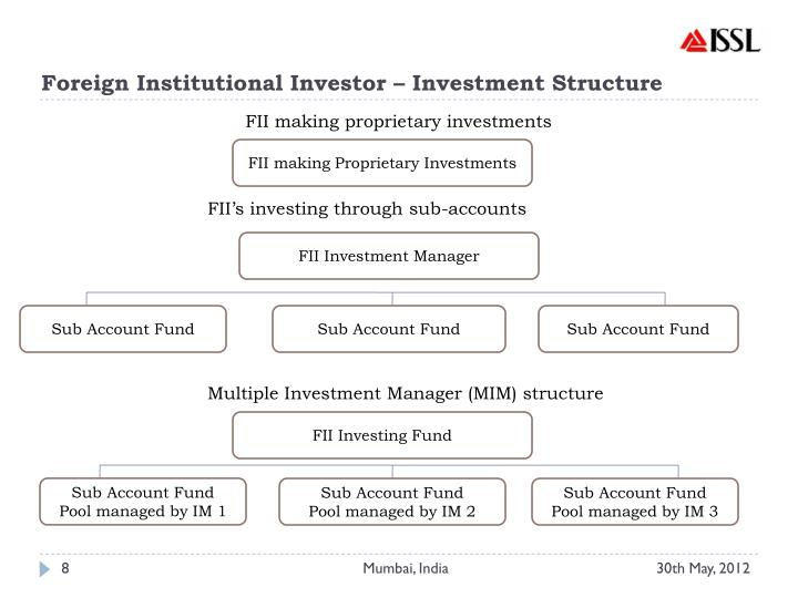 Foreign Institutional Investor – Investment Structure