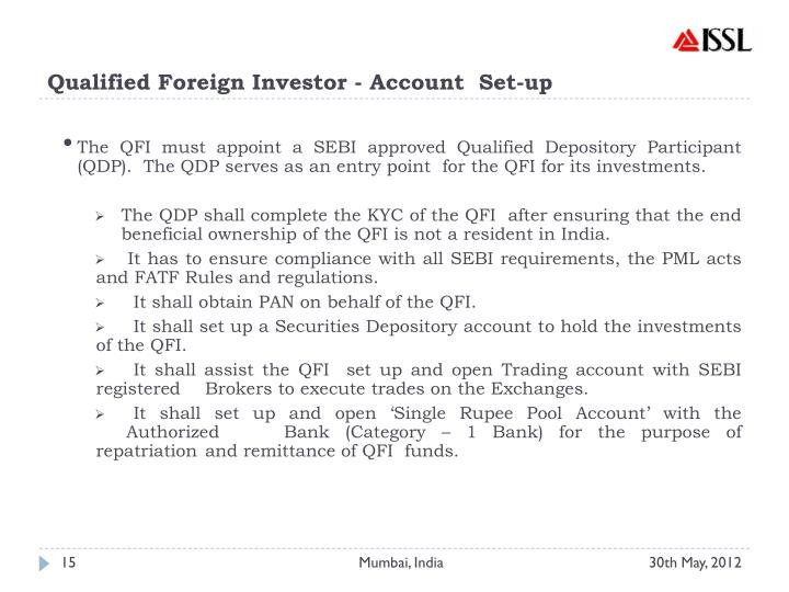 Qualified Foreign Investor - Account  Set-up