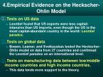 4 empirical evidence on the heckscher ohlin model
