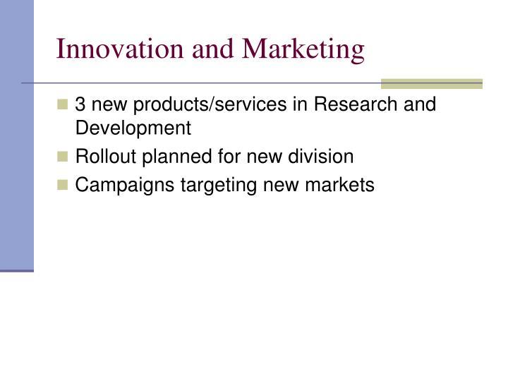 Innovation and Marketing