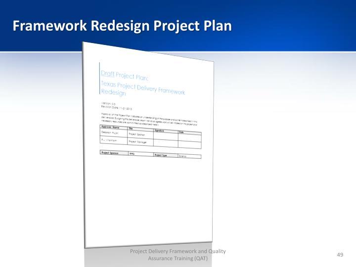 Framework Redesign Project Plan