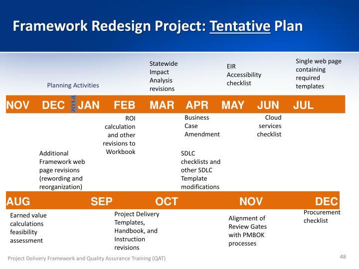 Framework Redesign Project: