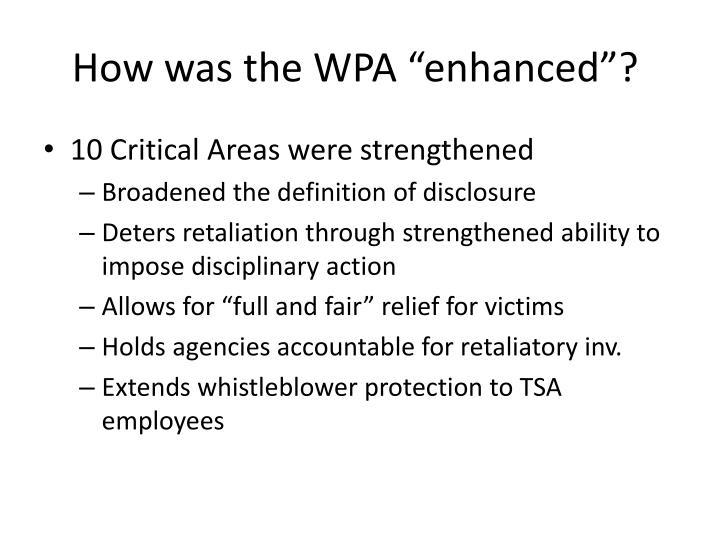 How was the wpa enhanced
