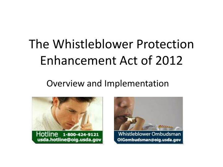 The whistleblower protection enhancement act of 2012