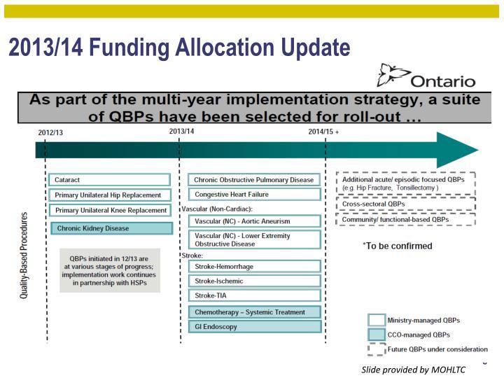 2013/14 Funding Allocation Update