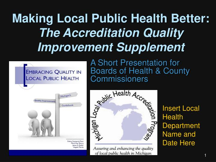 Making local public health better the accreditation quality improvement supplement