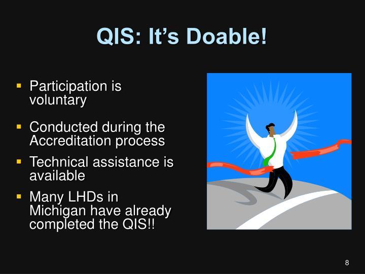 QIS: It's Doable!