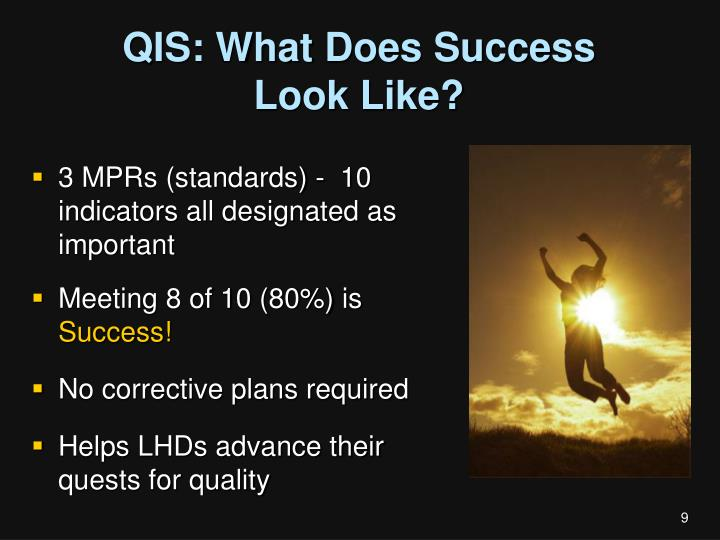 QIS: What Does Success