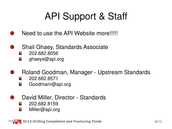 API Support & Staff