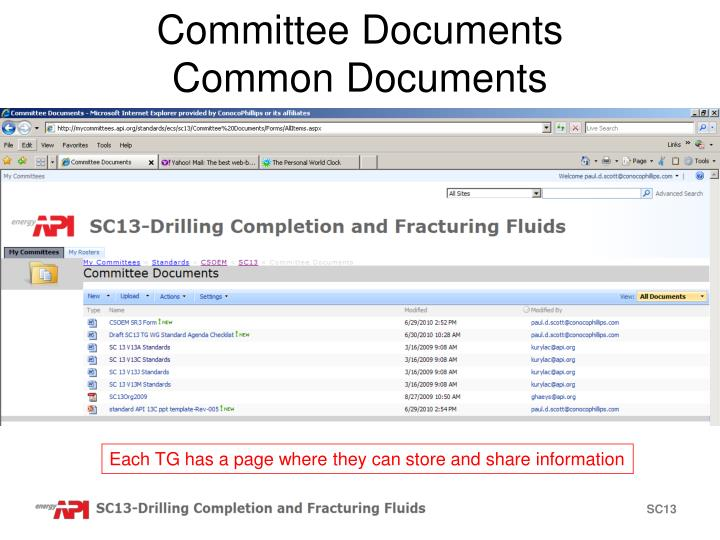Committee Documents