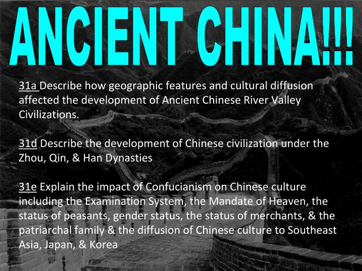 chinese civilization essay The chinese civilization in asia, a civilization developed many thousands of years ago that still endures to this day this civilization is known as china, or the chinese civilization.