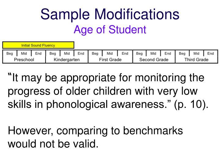 Sample Modifications