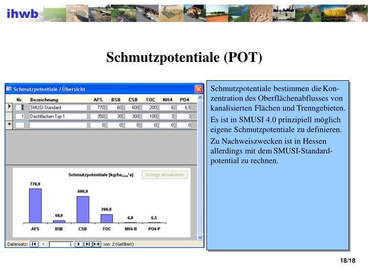 Schmutzpotentiale (POT)