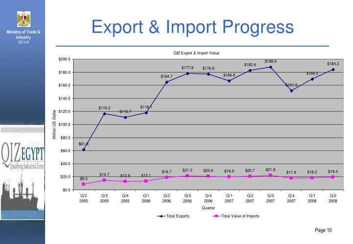 Export & Import Progress