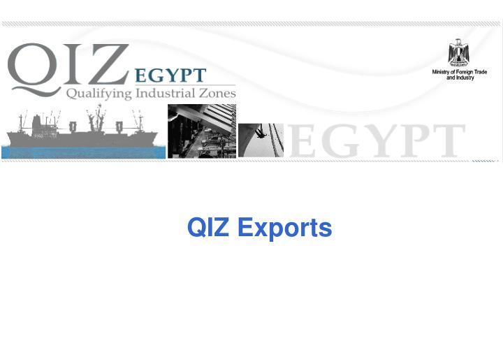 QIZ Exports