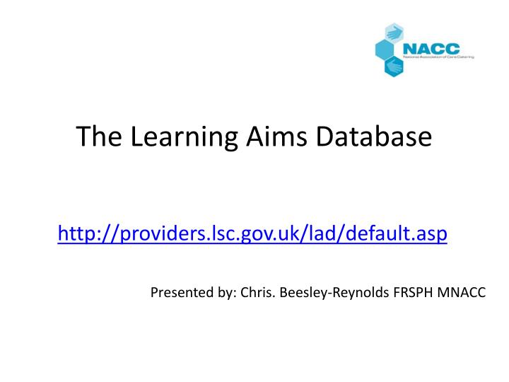 the learning aims database n.