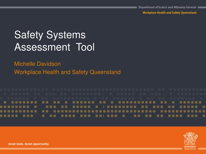 safety systems assessment tool n.