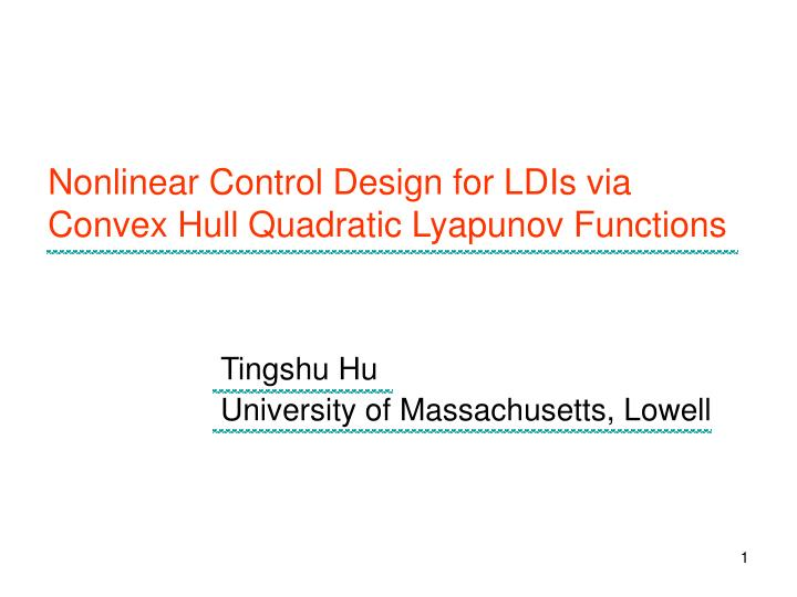 liapunov functions and stability in control Nonlinear control system feedback stabilization universal formula feedback design uniform asymptotic stability sontag ed (1999) control-lyapunov functions in: blondel v, sontag ed, vidyasagar m, willems jc (eds) open problems in mathematical systems and control theory.