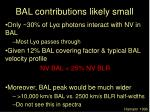 bal contributions likely small