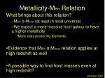 metallicity m bh relation