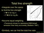 total line strength