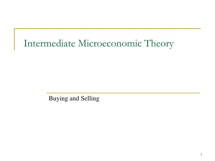intermediate microeconomic theory n.