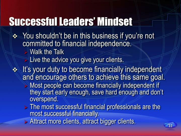 Successful Leaders' Mindset