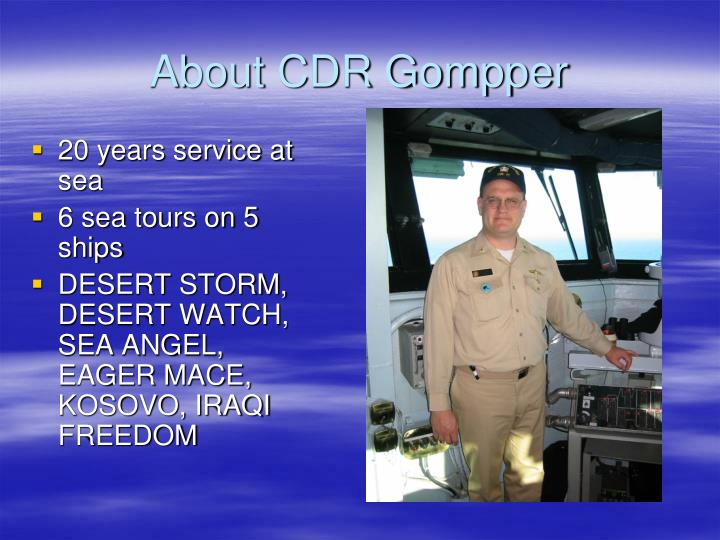 About cdr gompper