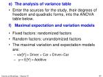e the analysis of variance table5