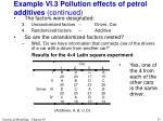 example vi 3 pollution effects of petrol additives continued