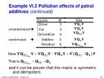 example vi 3 pollution effects of petrol additives continued4