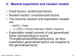 f maximal expectation and variation models1