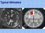 typical altimeters