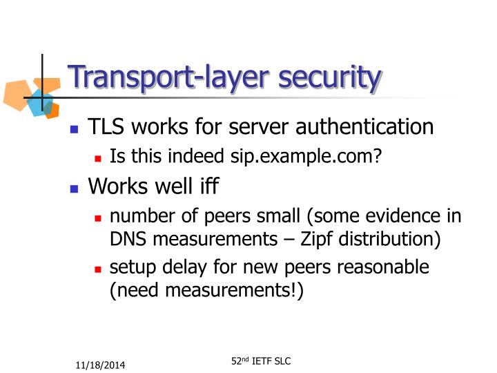Transport-layer security