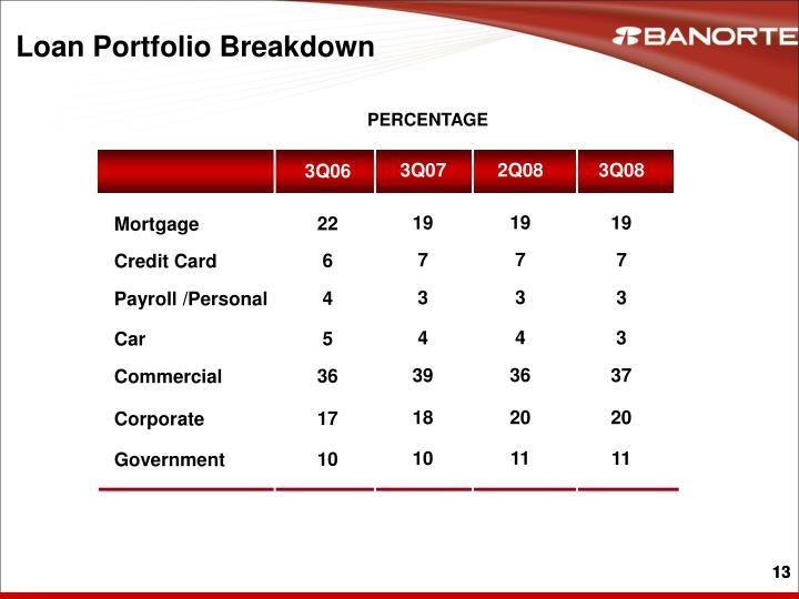 Loan Portfolio Breakdown