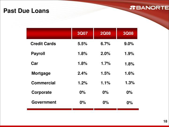 Past Due Loans
