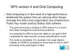nfs version 4 and grid computing